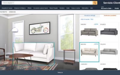 Amazon Showroom: il salotto virtuale per visualizzare i prodotti di design prima dell'acquisto